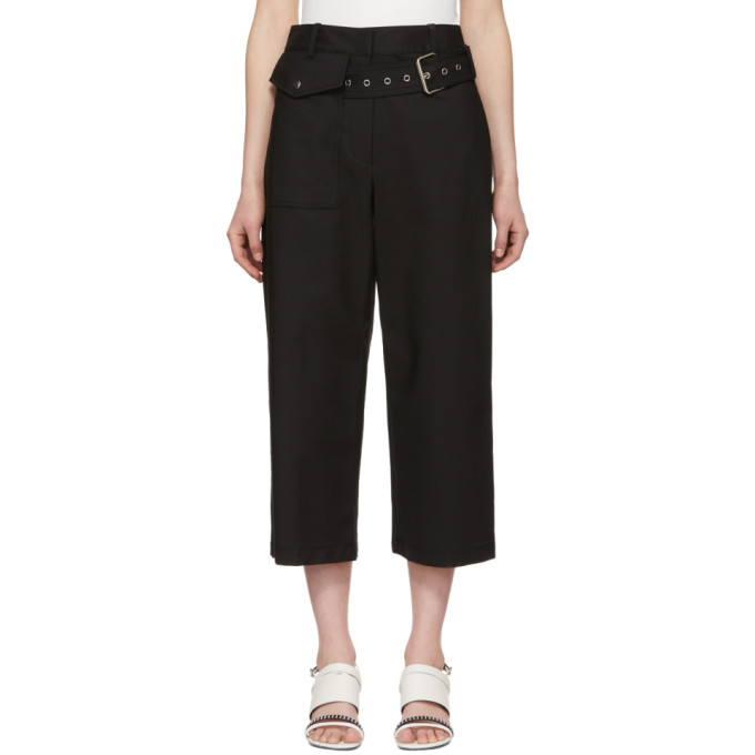 31 Phillip Lim Black Belted Wide Leg Trousers