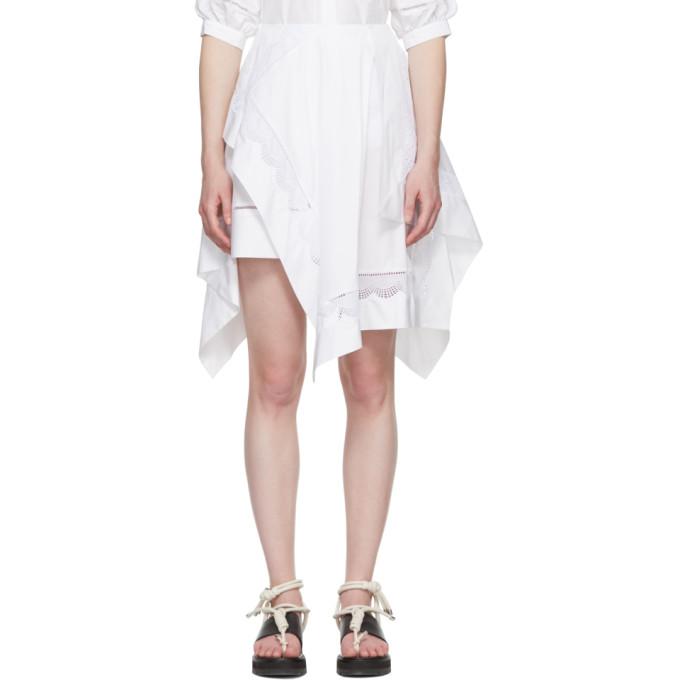 31 Phillip Lim White Handkerchief Skirt