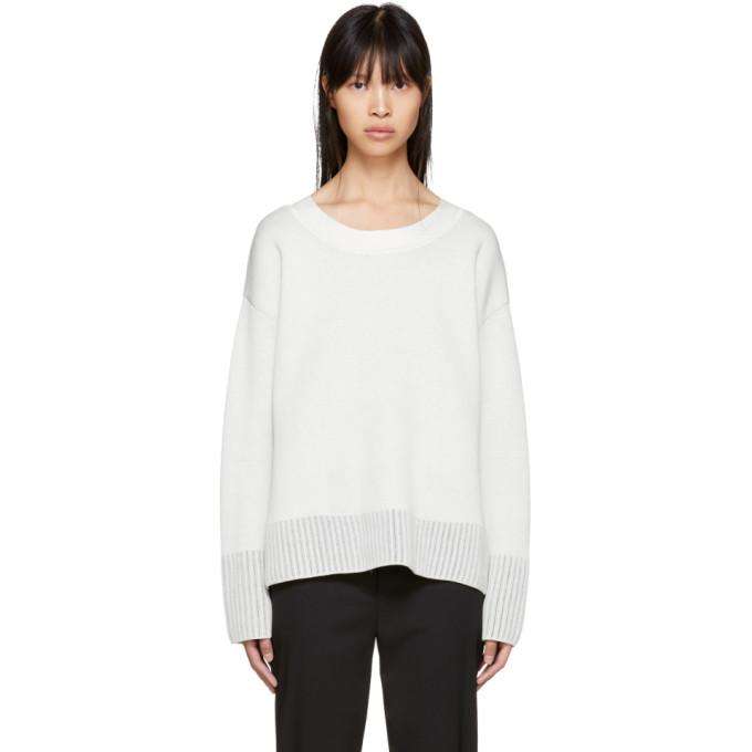 31 Phillip Lim Off White Textured Silk Sweater