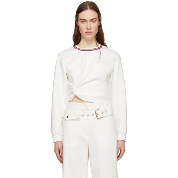 31 Phillip Lim White Twisted Sweatshirt