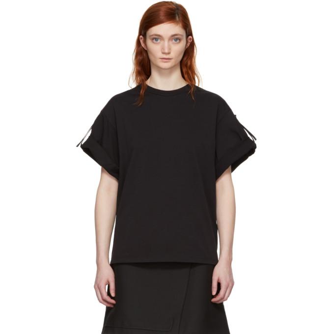 31 Phillip Lim Black Oversized Tie T Shirt
