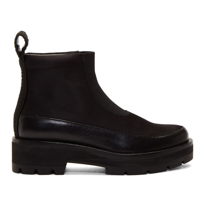 Image of 3.1 Phillip Lim Black Avril Lug Sole Boots