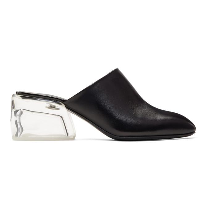 31 Phillip Lim Black Plexi Heel Mules