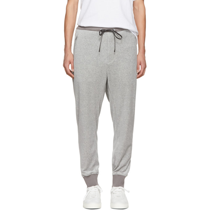 31 Phillip Lim Grey Tapered Velour Lounge Pants