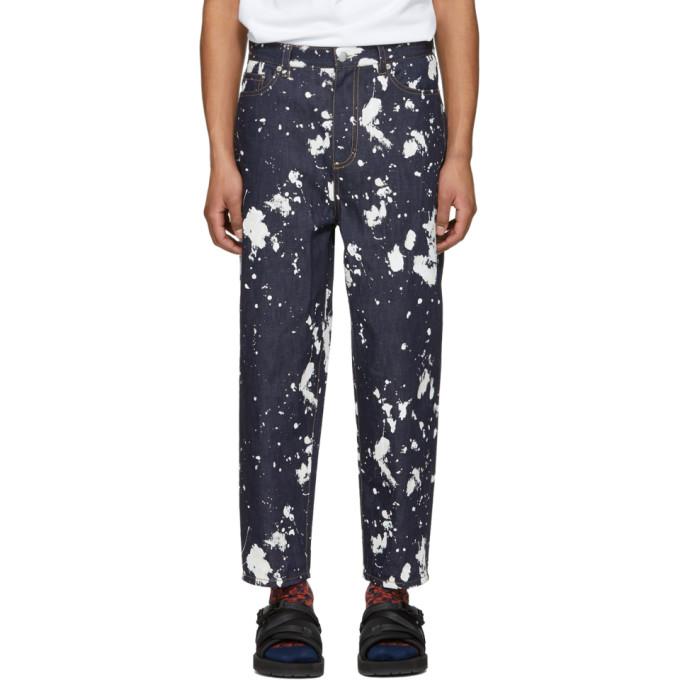 31 Phillip Lim Indigo Paint Splatter Jeans