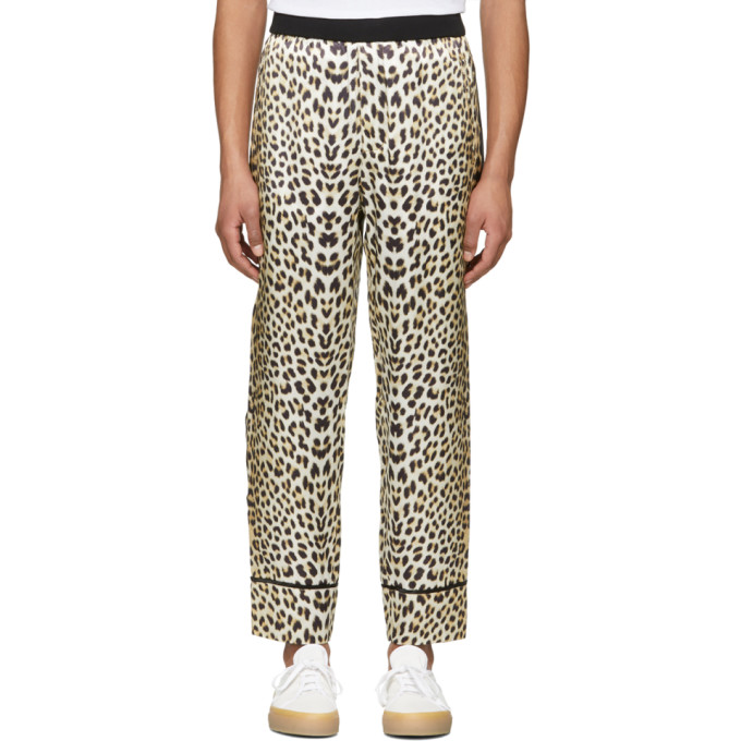 31 Phillip Lim Reversible Navy and Leopard PJ Trousers