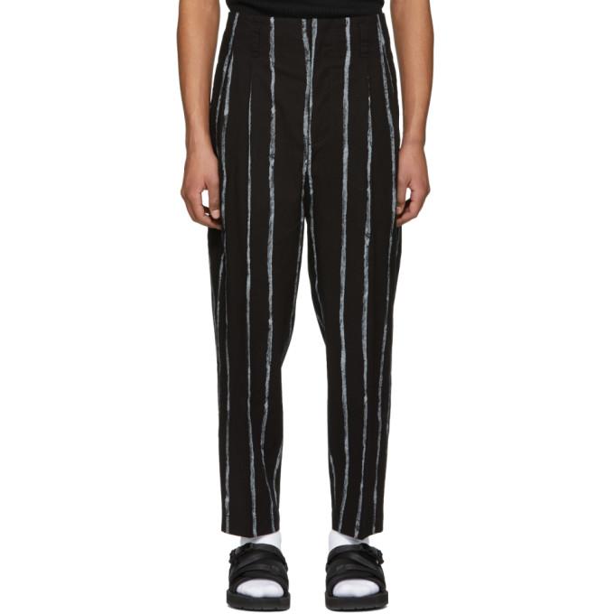 31 Phillip Lim Black Painted Stripes Trousers