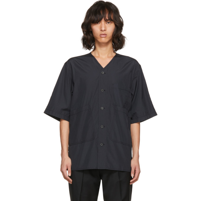31 Phillip Lim Black Overlap Pocket Shirt