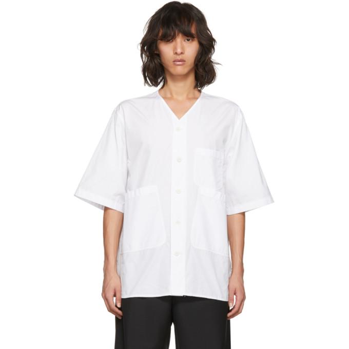 31 Phillip Lim White Overlap Pocket Shirt