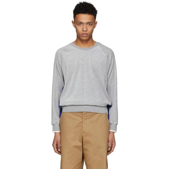 31 Phillip Lim Grey and Blue Classic Velour Sweatshirt
