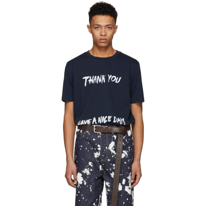 31 Phillip Lim Navy Thank You Have A Nice Day Perfect T Shirt
