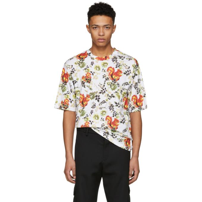 31 Phillip Lim White Surreal Squirrel Floral Box Cut T Shirt