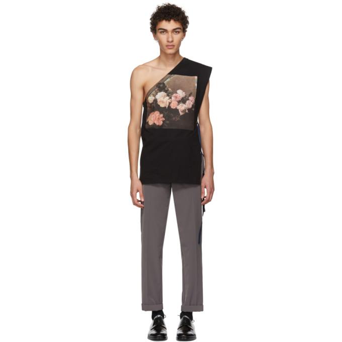 Image of Raf Simons Black Asymmetric T-Shirt