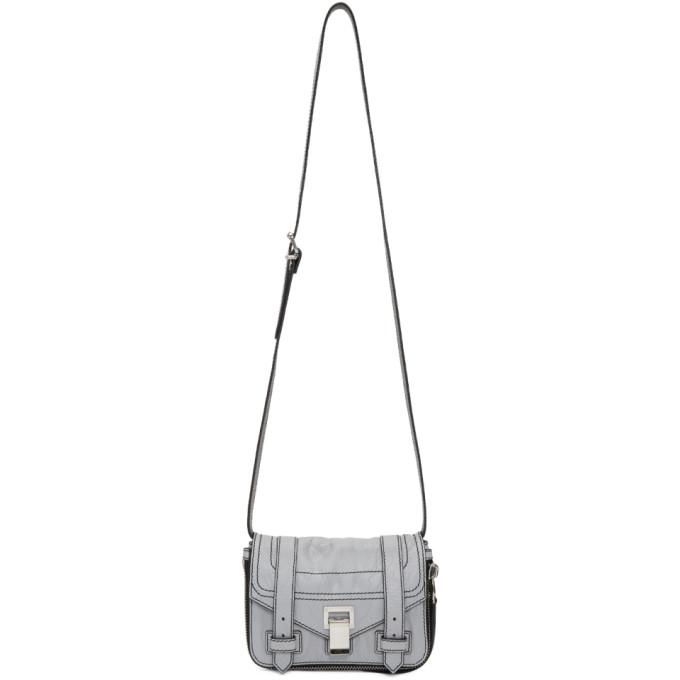 Proenza Schouler Grey Mini Zip PS1+ Satchel