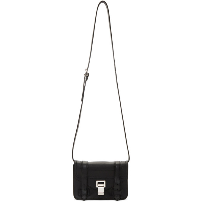 Proenza Schouler Black Mini PS1+ Satchel
