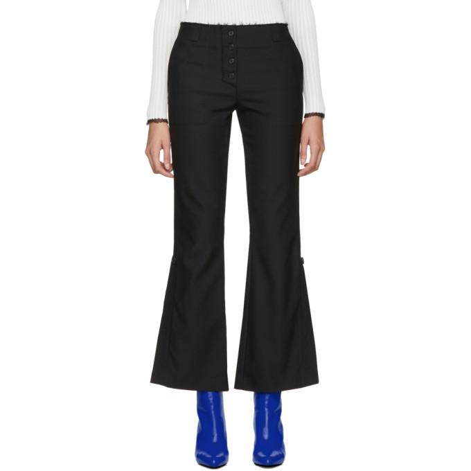 Proenza Schouler Black Stretch Flared Suiting Trousers