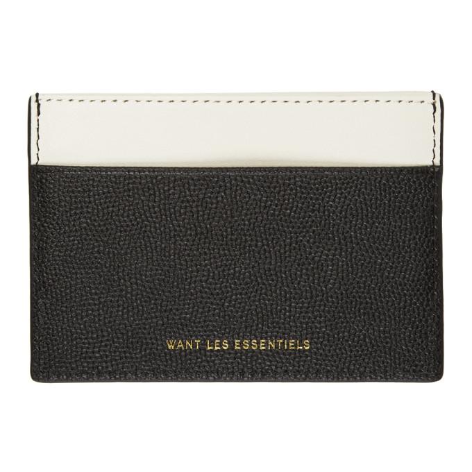 Image of Want Les Essentiels Grey & Black Card Holder