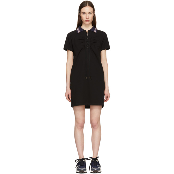 Image of Carven Black Polo Dress