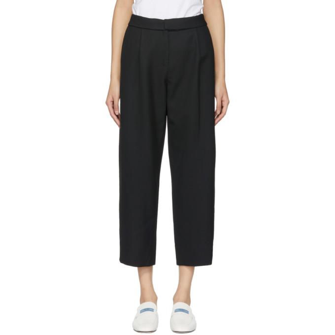 Carven Pantalon écourté en laine noir