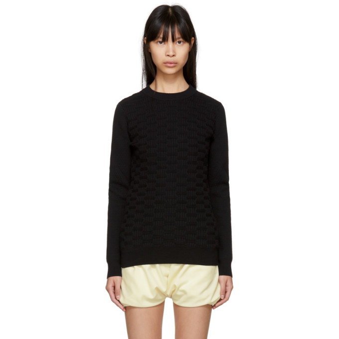Image of Carven Black Textured Knit Sweater