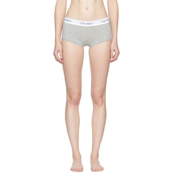 Calvin Klein Underwear Grey Modern Cotton Boy Shorts