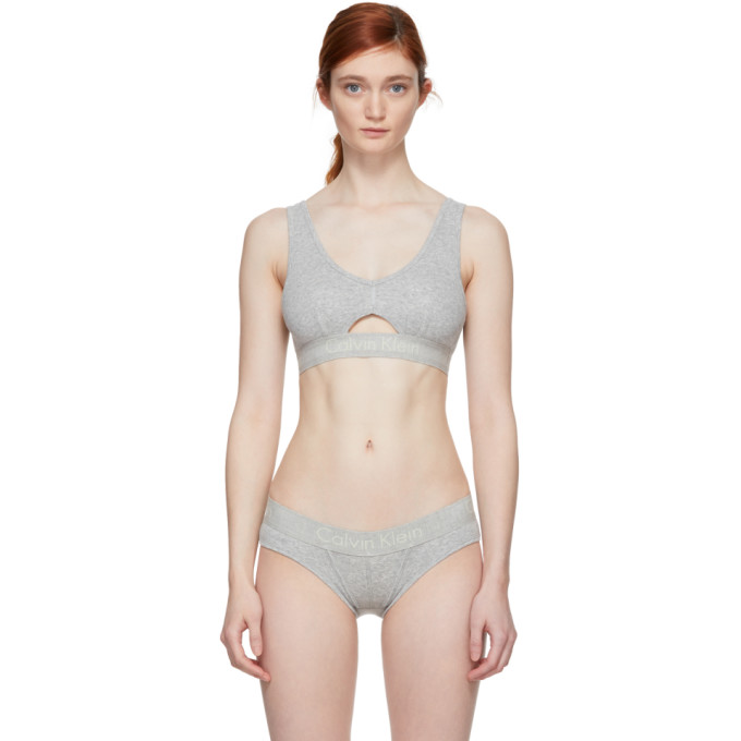 Calvin Klein Underwear Grey Cotton Bralette