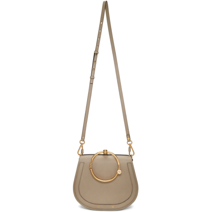 Chloe Grey Medium Nile Bracelet Bag