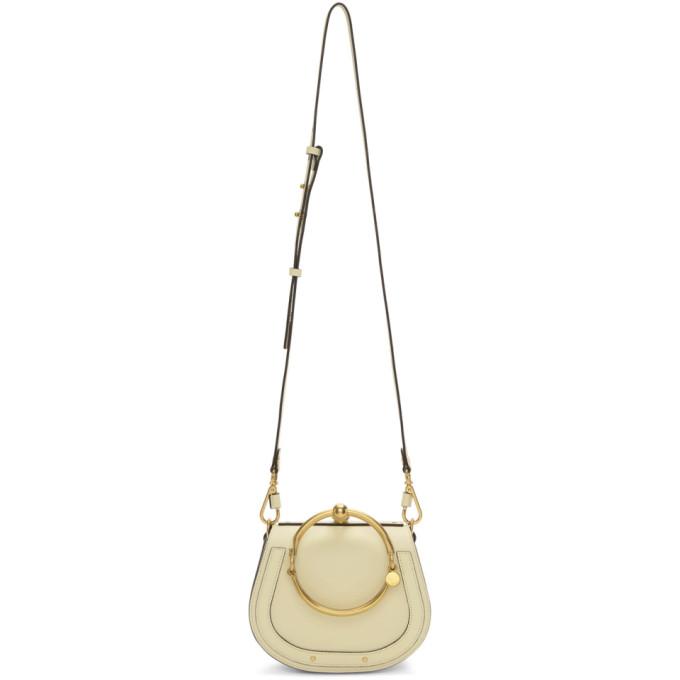 Chloe Off-White Small Nile Bracelet Bag