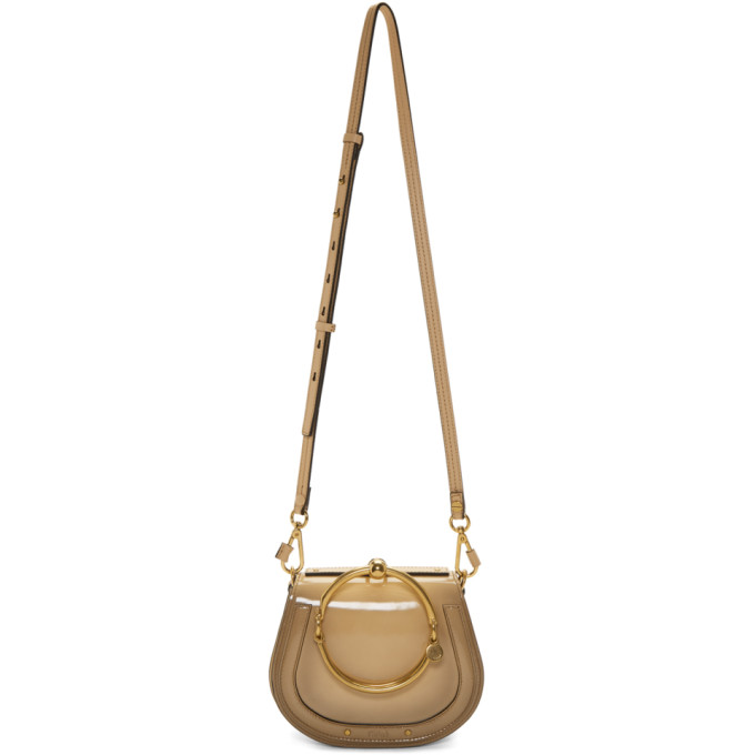 Chloe Beige Small Nile Bracelet Bag