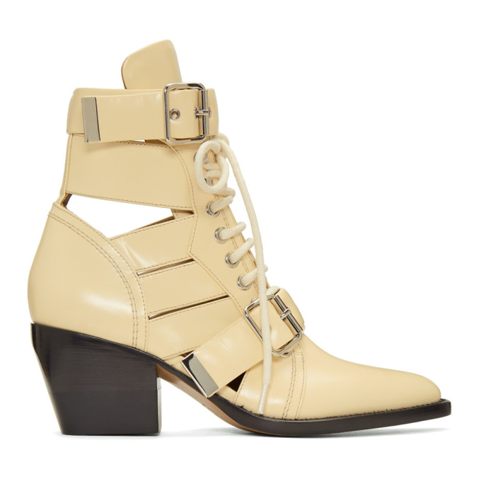 Image of Chloé Beige Medium Rylee Boots