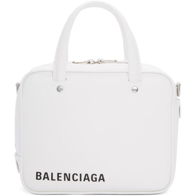 Balenciaga White Extra Small Square Bag