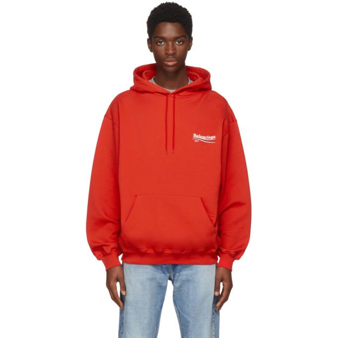 Balenciaga Red Campaign Hoodie