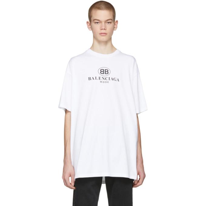 Balenciaga ホワイト BB Mode T シャツ