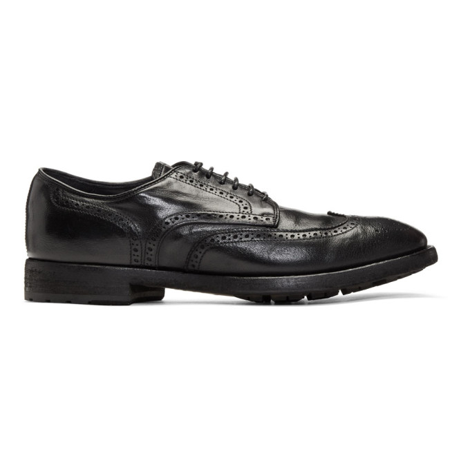 Officine Creative Black Princeton 9 Brogues