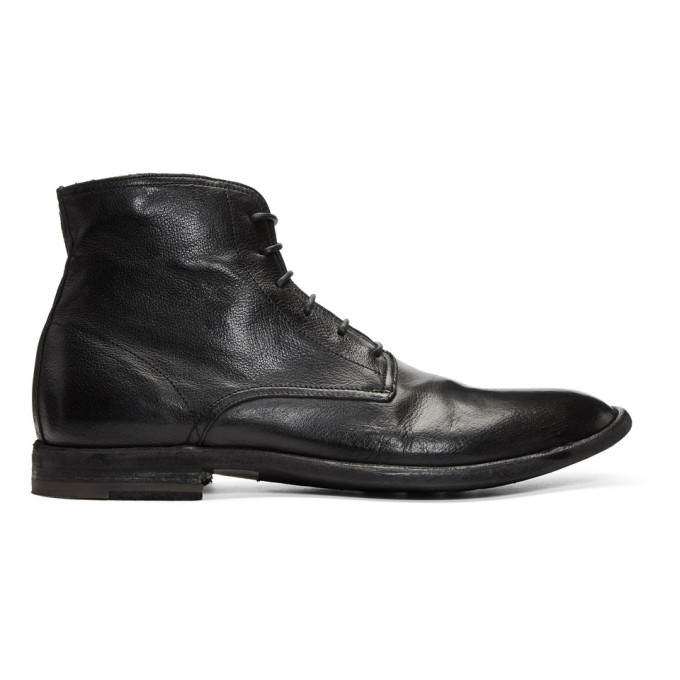 Officine Creative Black Standard 7 Boots