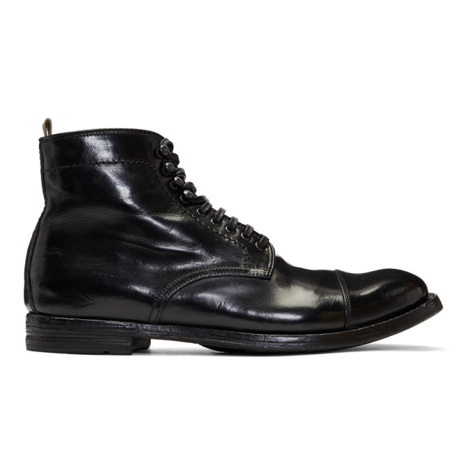 Officine Creative Black Anatomia 16 Boots