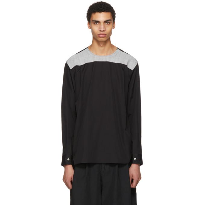 Comme des Garçons Homme Plus ブラック & グレー バック ヨーク シャツ