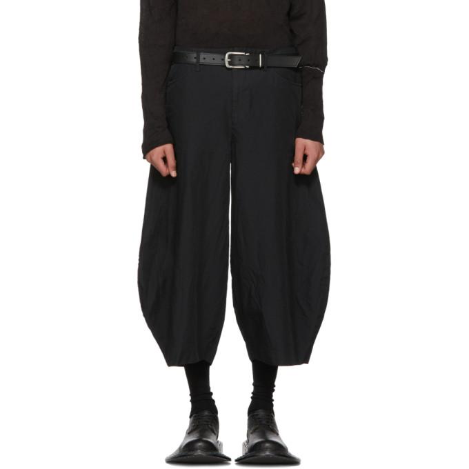 Image of Comme des Garçons Homme Plus Black Twill Balloon Shorts