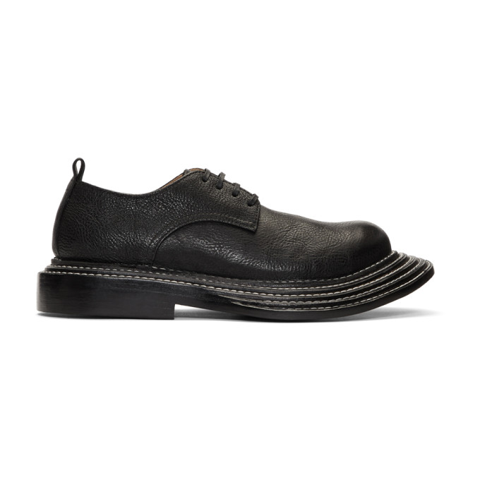 Image of Comme des Garçons Homme Plus Black Shrunken Leather Derbys