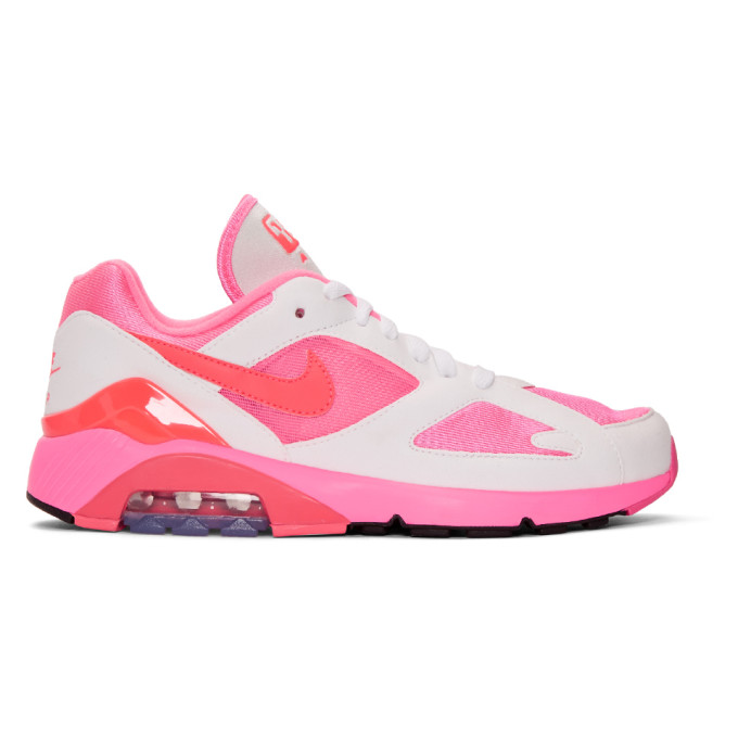 Comme des Gar�ons Homme Plus White & Pink Nike Edition Air Max 180 Sneakers