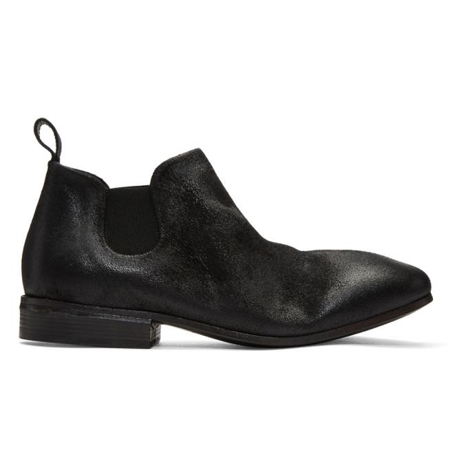 Marsèll Black Suede Dodo Chelsea Boots