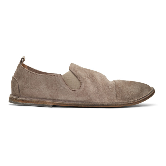 Image of Marsèll Beige Suede Strasacco Loafers