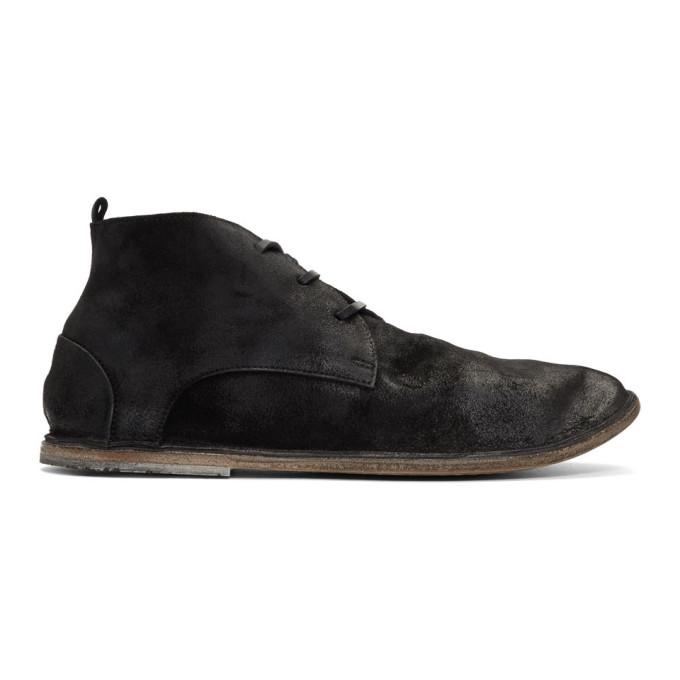 Marsèll Black Suede Strasasacco Desert Boots