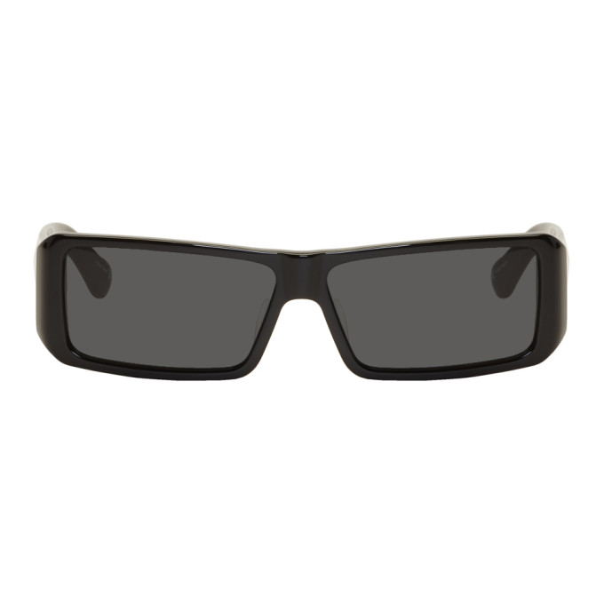 Image of Dries Van Noten Black Linda Farrow Edition 157 C1 Sunglasses