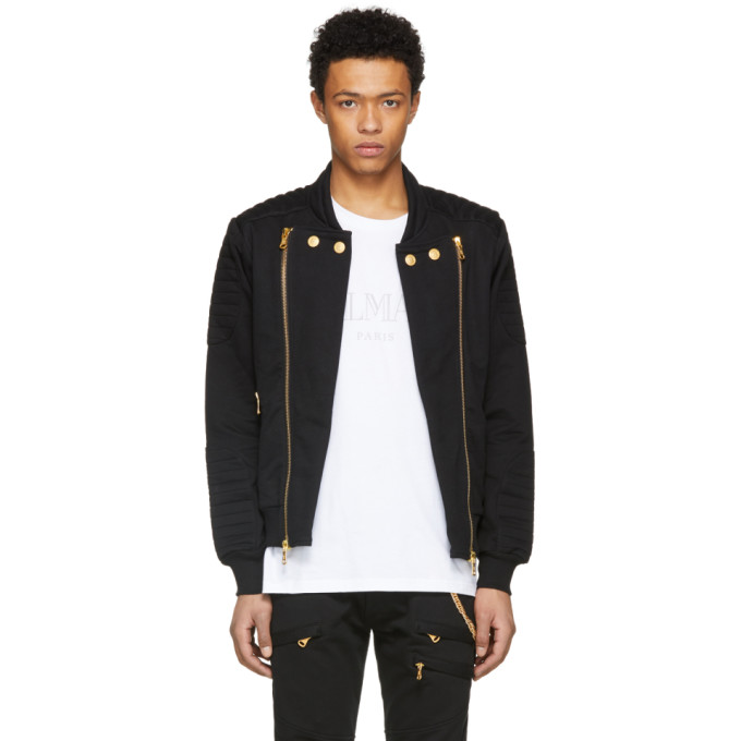 1e340de1aac Pierre Balmain Black and Gold Zipper Jacket
