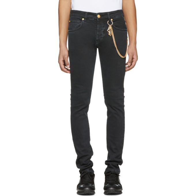 Image of Pierre Balmain Black Chain Jeans