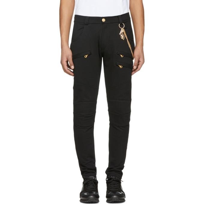 Image of Pierre Balmain Black Chain Lounge Pants