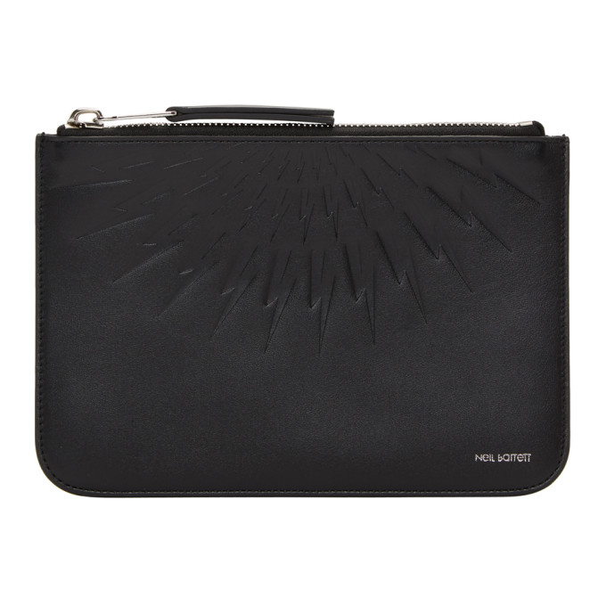 Neil Barrett Black Medium Zip Pouch