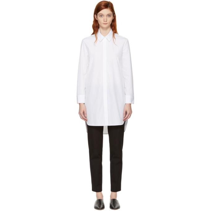 Neil Barrett White Poplin Shirt Dress