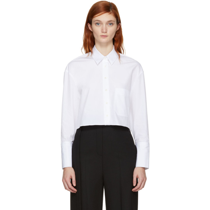 Neil Barrett White Cropped Shirt